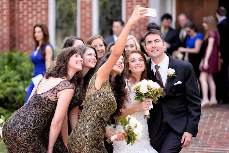 селфи на свадьбе инстаграмм