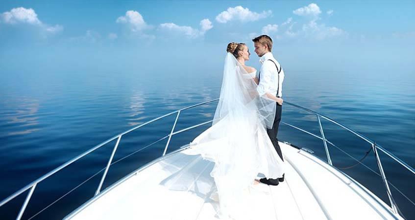 Свадьба на корабле Киев