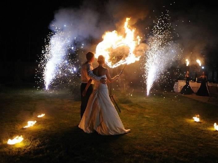фаер шоу на свадьбу киев
