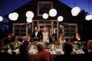 вечерняя церемония на свадьбу
