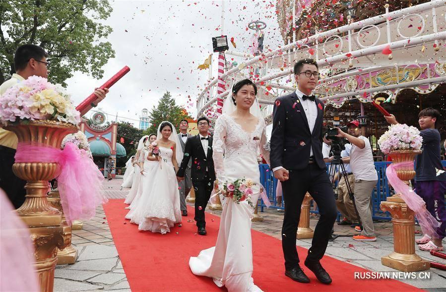 Свадьба в парке развлечений атракционов киев